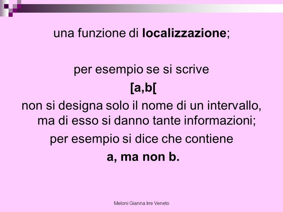 una funzione di localizzazione; per esempio se si scrive [a,b[